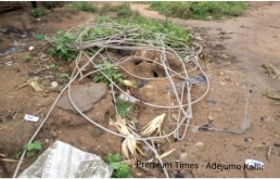 Electricity cable recovered from thieves @ Olorunda
