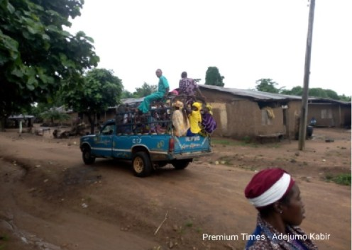 Farmers going to Oyo town from Olorunda