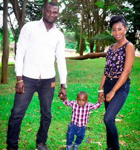 Temitope, Gold and Modupe Kolawole during the happy times together