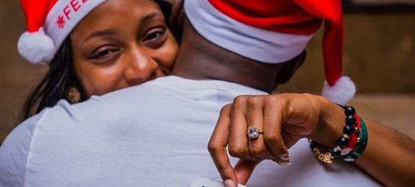BBNaija ex-Housemates, Khafi, Gedoni engaged. [PHOTO CREDIT: Official Instagram handle of Khafi]