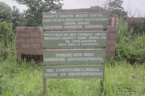 Signage for PHC Amanta