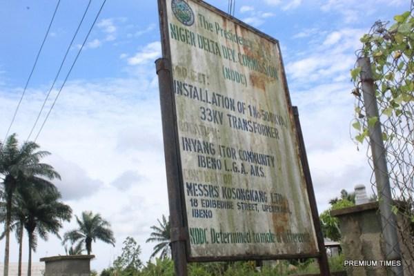 Transformer provided for Ikot Ekan community by NDDC