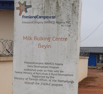 The FrieslandCampina milk bulking centre in Iseyin
