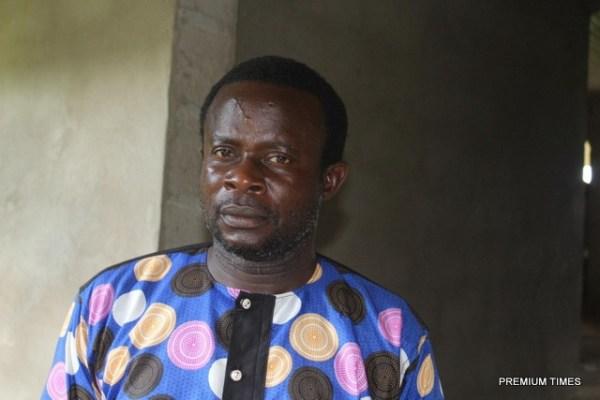 Mr Nzan Igbor Nzan volunteers at the health post in the community