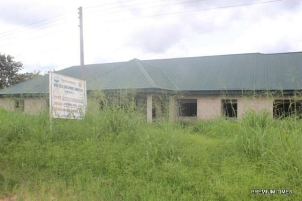 Abandoned main block of standard cottage/comprehensive health centre in Ekukunela