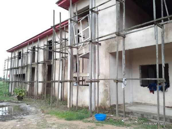 Bridge Foundation Skills Acquisition Centre is yet to be completed