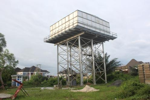 Abandoned solar-powered water project at Iwochange and Mbiabong community in Uyo