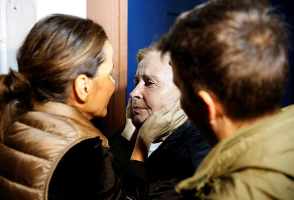 Journalist Nazli Ilicak is embraced after her release from prison in Istanbul in November 2019, after a court ordered her free on time served at a retrial. Two of her colleagues remain in prison on terrorism related charges, among the 47 journalists jailed in Turkey. (Reuters/Huseyin Aldemir)