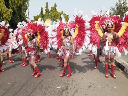 Participants at the Calabar carnival