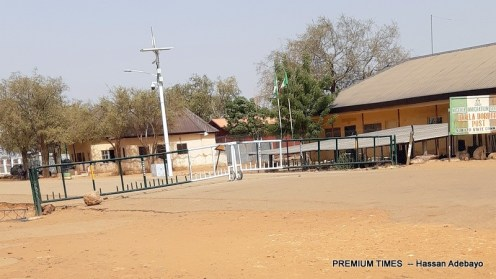 Gate of Nigeria's border with NIGER Republic, Illela, Sokoto State.