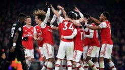 The gunners celebrates Sokratis goal (Photo Credit: Reuters on Google)