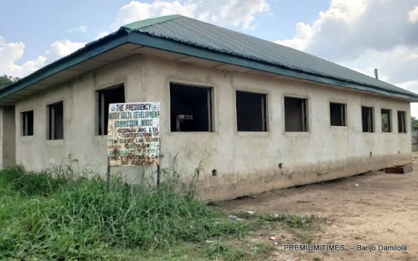 Uncompleted science laboratory at Mmahu Secondary School