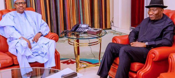 Nigeria President Muhammadu Buhari received Former President Goodluck Jonathan in the State House on Thursday, 30th Jan 2020