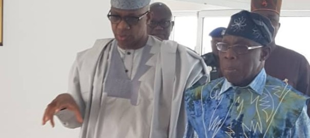 L-R: Gov. Dapo Abiodun and Ex-President Olusegun Obasanjo