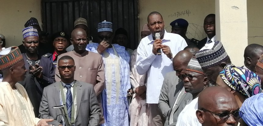 Governor of Borno State, Babagana Zulum, speaking to his people.