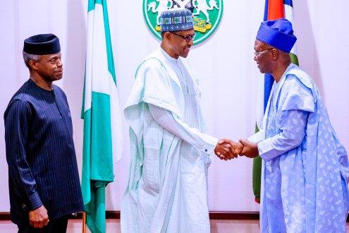 President Muhammadu Buhari hosted members of Presidential Legal Team to a dinner at the Presidential Villa, Abuja.