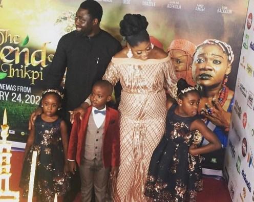 Mercy Johnson and family