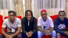 Naira Marley and his signees Fabian Blu, Zinoleesky and Moh Bad Photo courtesy Naira Marley