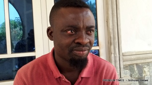 Victor Mbu, the youth leader of Ajassor town