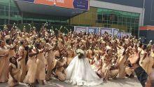Sandra Ikeji and her 200 bridesmaids photo by Sandra Ikeji