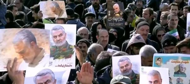 Mourners flood Tehran to honour Iranian general Quassem Soleimani [PHOTO CREDIT: Reuters]