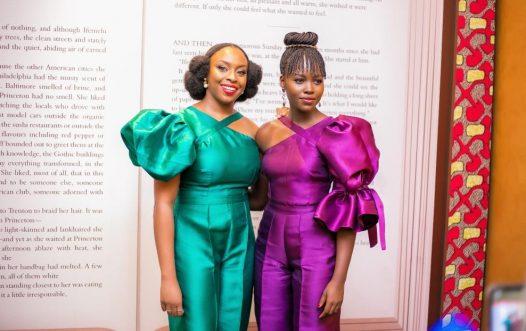Chimamanda Adichie recently hostedKenyan-born Hollywood actress, Lupita N'yongo at a private reception in Lagos.