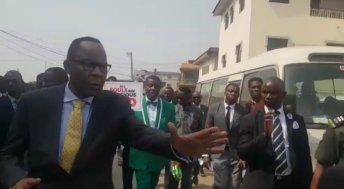 General Overseer of the Redeemed Christian Church of God, (RCCG) Enoch Adeboye, joins the protest as CAN has directed. [PHOTO CREDIT: Sahara Reporters]
