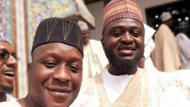 Groom with Mohammed Lere, PT Hausa Editor.