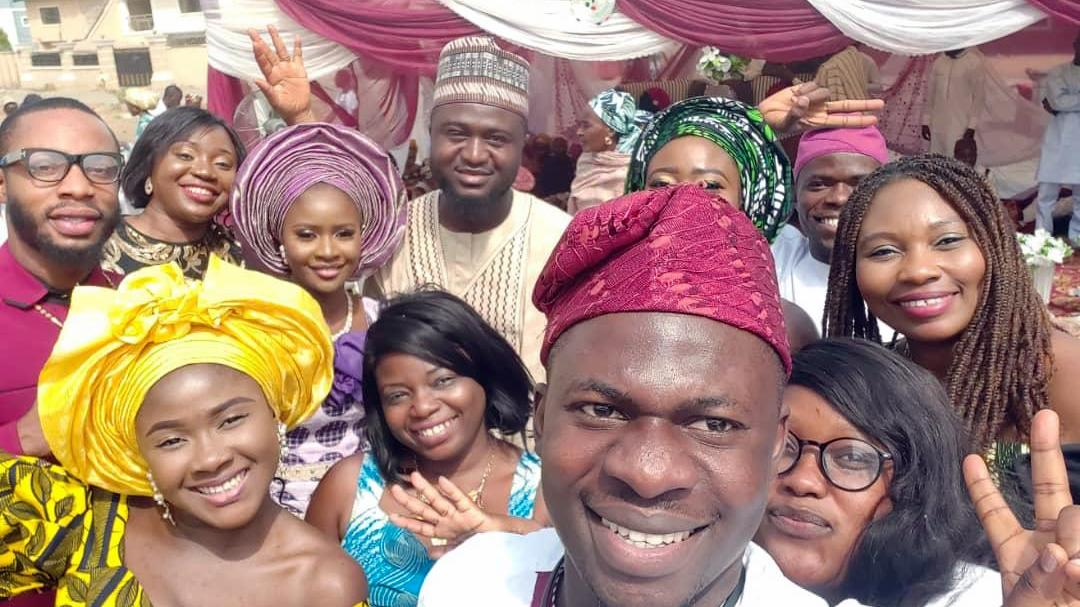 PREMIUM TIMES family with bride and groom