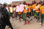 School children marching for Leah Sharibu's two years captivity with bOKO haram