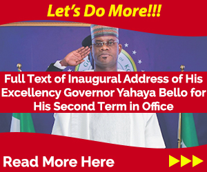 Yahaya Bello speech