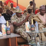 from left; Yobe Speaker, Mirwa, sec com Maj. s Idris, SA security, Rtd Brig. Gen. Abdulsalam
