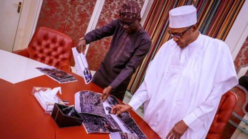 Lagos State Governor, Babajide Sanwo-Olu, jetted to Abuja to brief President Muhammadu Buhari about the Sunday accident and show him photographs.