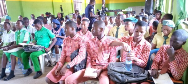 Students from four secondary schools were in attendance