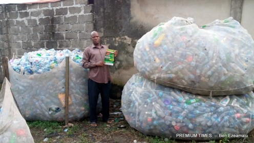 Mr Amuzie donates all the proceeds of his recyclables to the school
