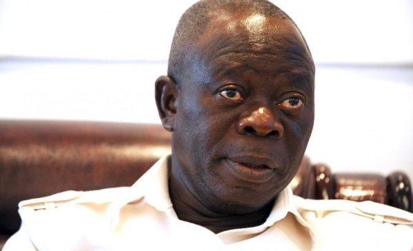 Adams Oshiomhole, APC National Chairman. [Silverbird TV]
