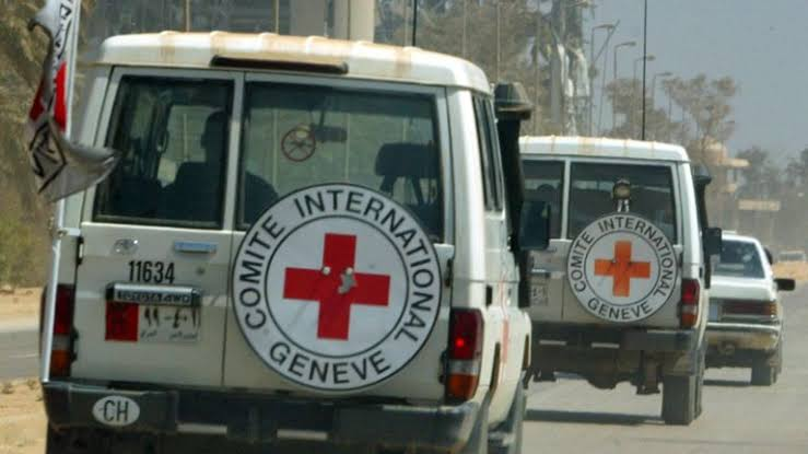 Red Cross vehicles in a convoy [Photo: Television Nigerian]
