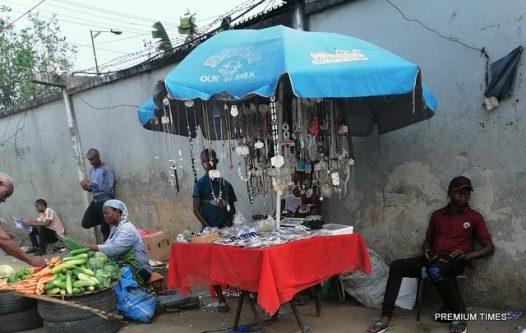 Jewellery seller at Ojota