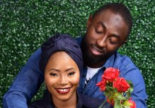 Ademola Adedigba with his fiancée, Halimah Sulaiman