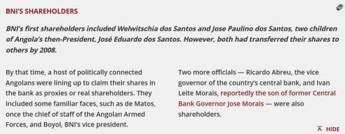 BNI's Shareholders