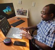 DG of NITDA Mallam Kashidfu Inuwa Abdullahi during the video conference. Photo by NITDA