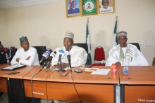 Yobe COVID 19 sub committee chair Gen. Abdulsalam rtd on security and enforcement briefing the press in Damaturu..JPG exceeds the maximum upload size for this site.