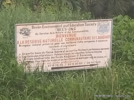 A signpost at Benin Republic