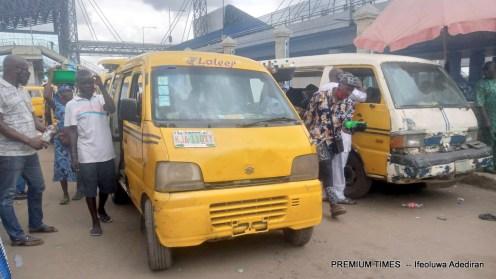 Buses Loading Passengers at Oshodi Motor Park