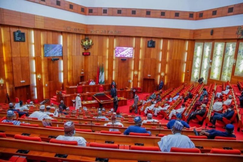 The Nigerian Senate Plenary [PHOTO CREDIT: @NGRSenate]