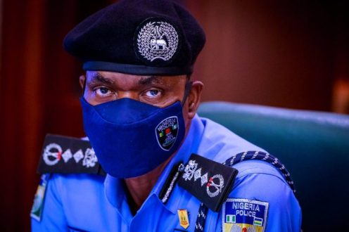 The Police Inspector-General (IGP), Mohammed Adamu. [PHOTO CREDIT: @toluogunlesi]