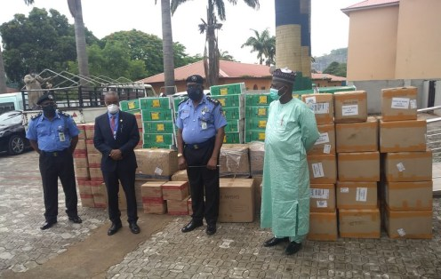 NHIS donates PPEs to Police Clinic