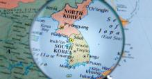 North and South Korea on the map used to illustrate the story. [PHOTO CREDIT: Seatrade Maritime]
