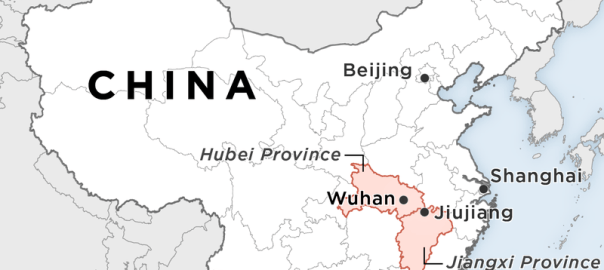 WUHAN, China, on a map. [PHOTO CREDIT: NPR]