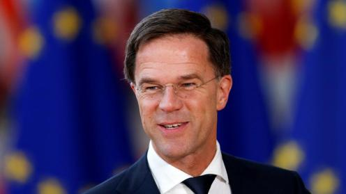 Netherlands' Prime Minister Mark Rutte arrives at a European Union leaders informal summit in Brussels, Belgium, on February 23, 2018. (Reuters)
